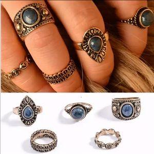 Boho 5pcs ring set